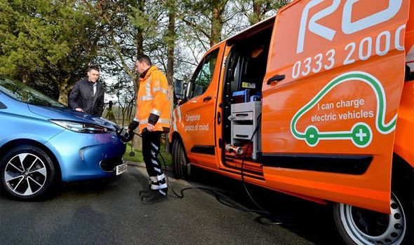 RAC EV breakdown boost service