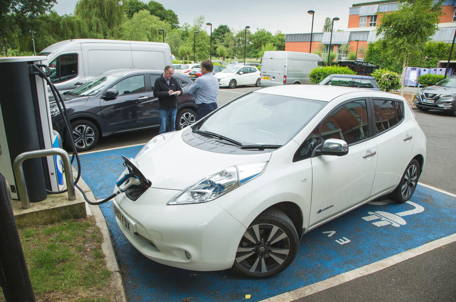 Nissan Leaf electric car charging