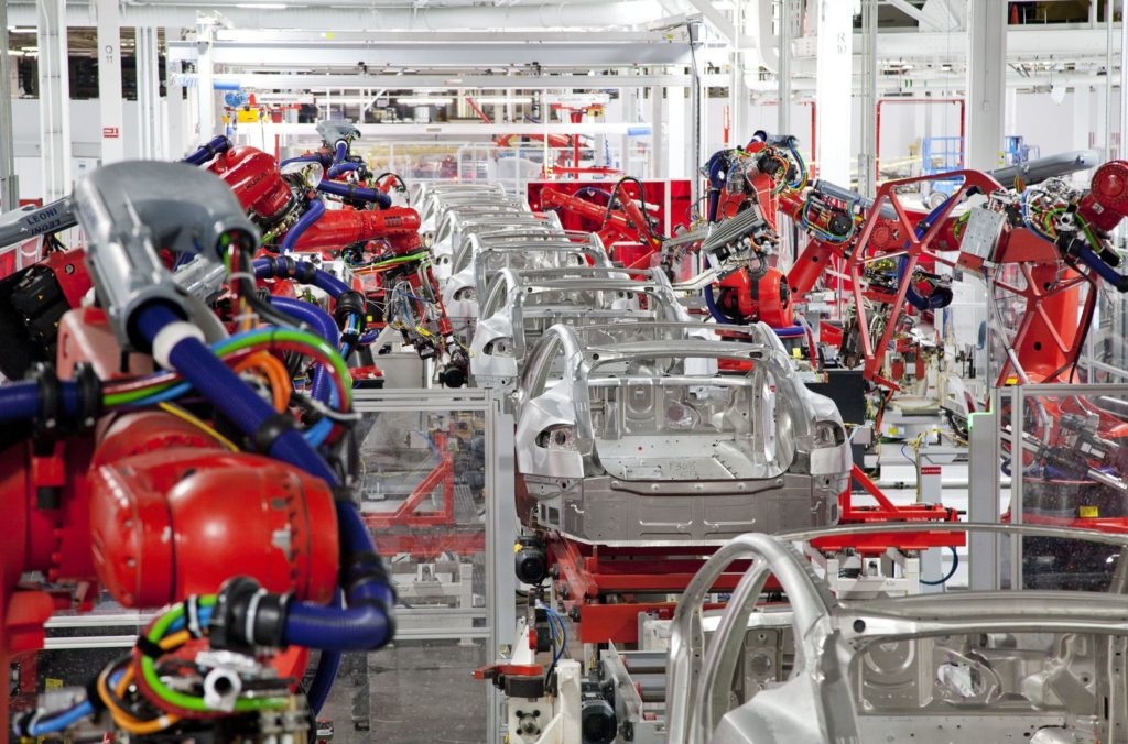 Tesla electric car factory California
