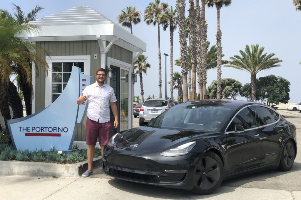Cross country cannonball run in a tesla model 3 from new york to california