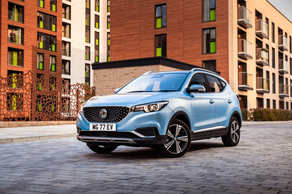 MG all electric SUV MG ZS