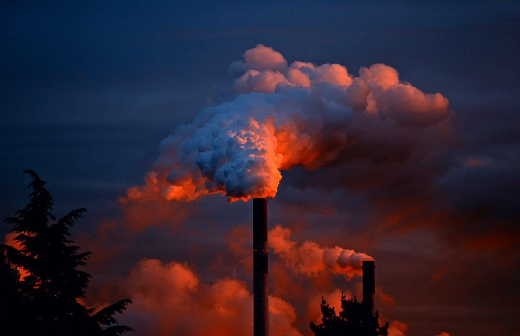 pollution from coal fired power plants that power diesel and petrol engines