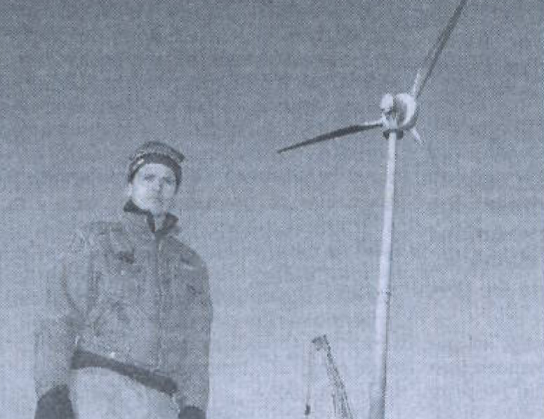 ecotricity founder dale vince and wind turbine