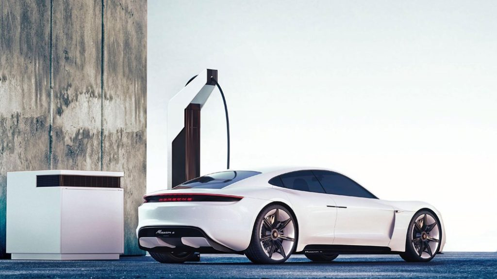Mission E porsche concept electric car
