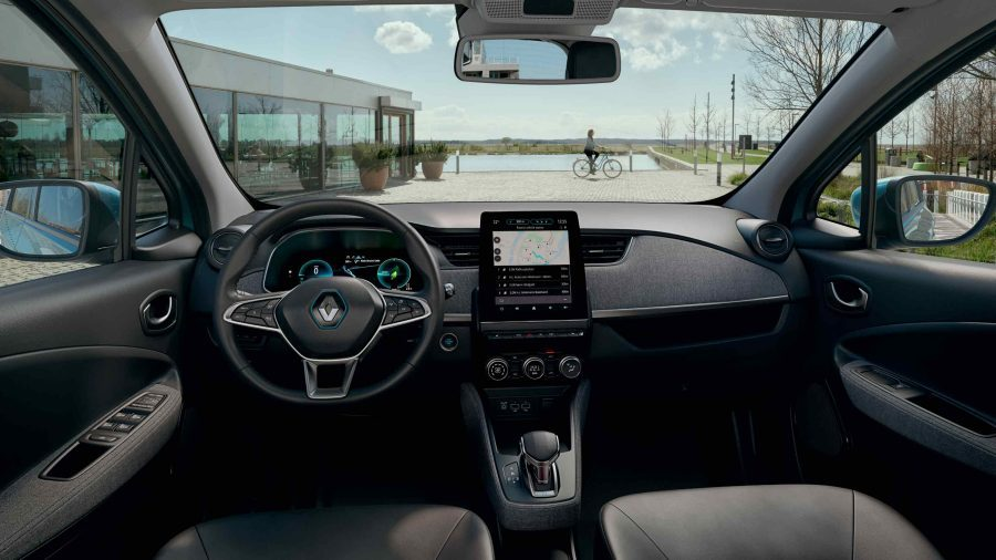 the all electric new renault zoe