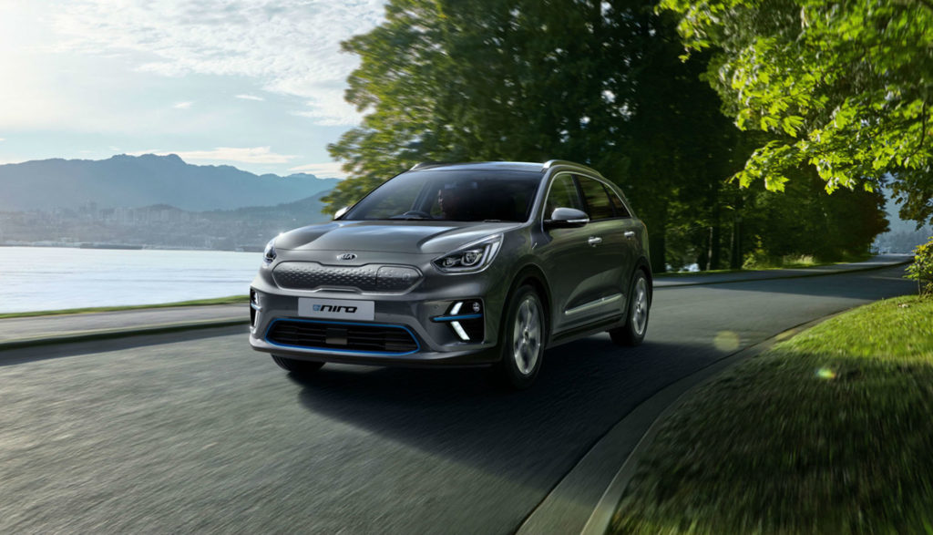 the all electric kia e niro car