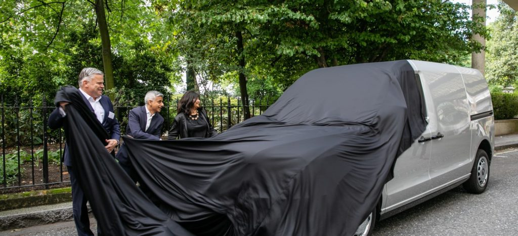 Sadiq Khan Unveiling The Electric LEVC Van