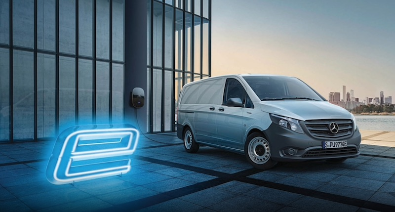 mercedes benz e-vito electric van
