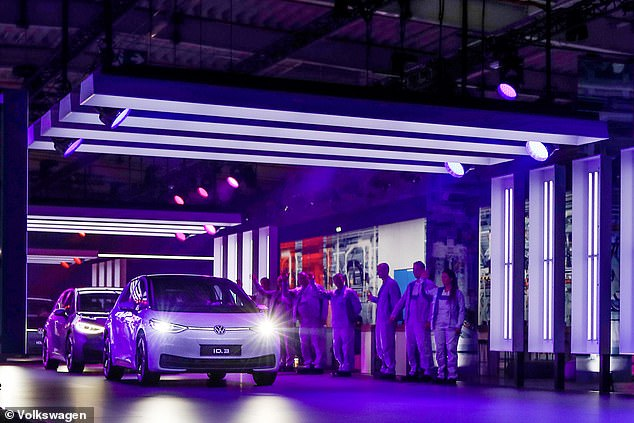 volkswagen all electric ID 3 leaves factory