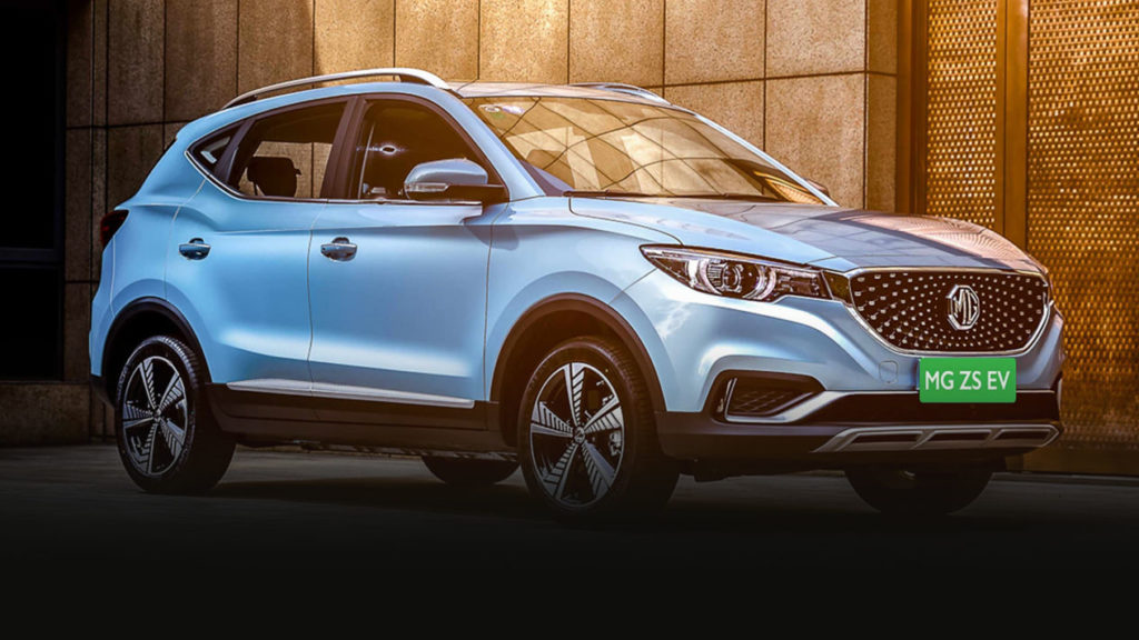 MG ZS EV SUV electric car