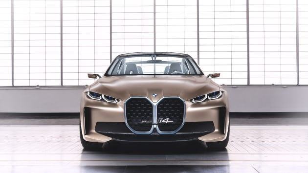 the all electric bmw i4 concept car