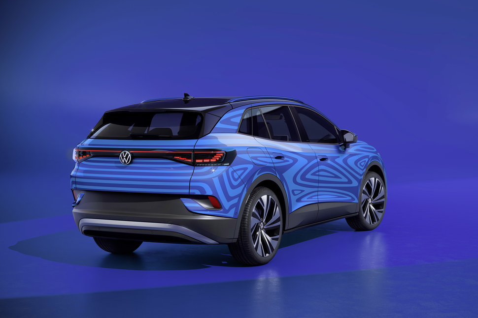 The electric VW ID 4 crossover