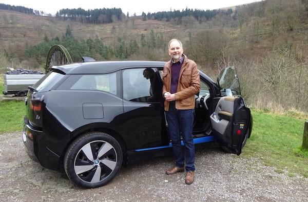 electric BMW i3 car