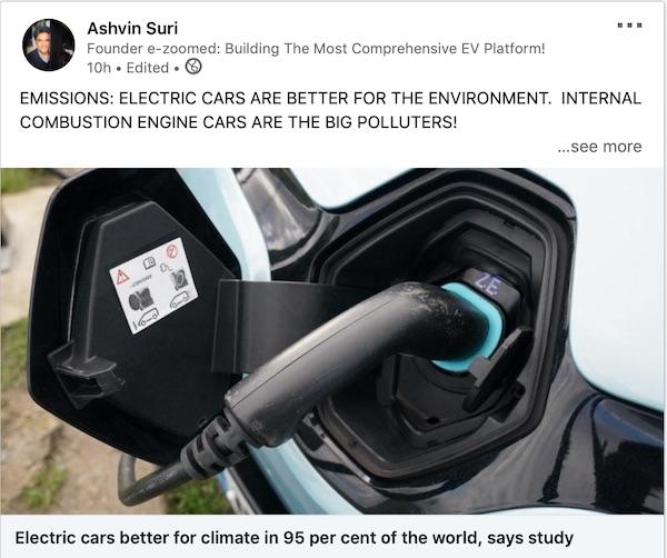 Electric Cars Emissions