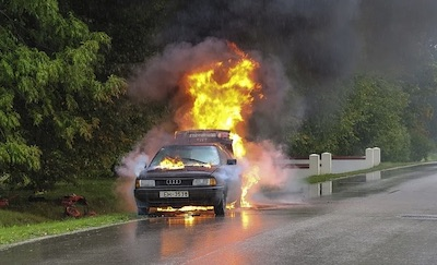 petrol car fire
