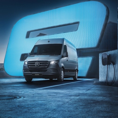 mercedes benz electric van