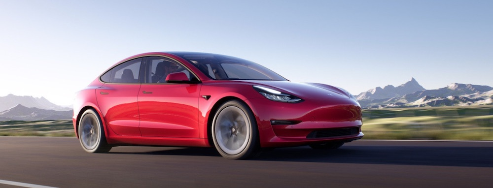Tesla Model 3 Electric Car (credit: Tesla)