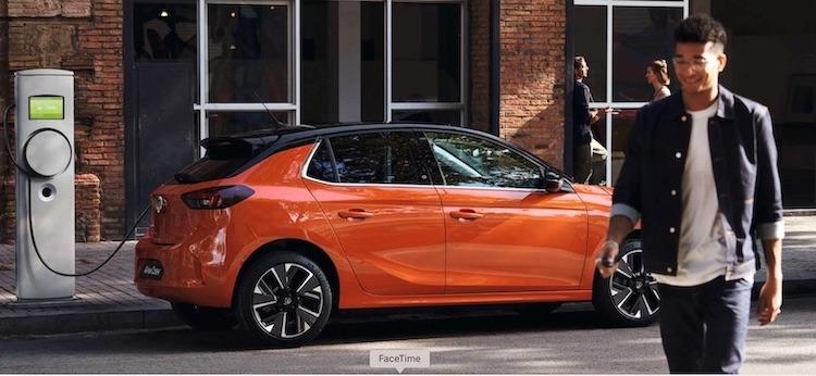 Auto elettrica Opel Corsa-e